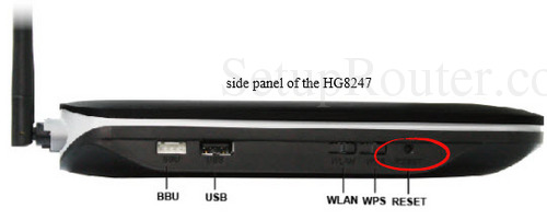 Huawei HG8247H Reset Router to Default
