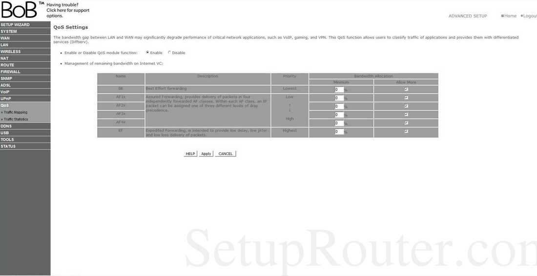 BoBTM – 4 port wireless VoIP router - Netspace