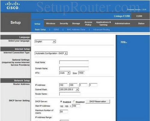 setup wifi on the linksys e3200 rh setuprouter com Cisco Wireless Router Linksys Wireless -G Broadband Router