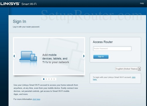 How to Login to the Linksys EA7500
