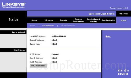how to change wifi password on linksys wrt310n