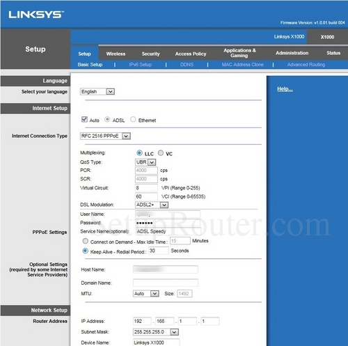 Linksys Ip Address >> How To Change The Ip Address Of The Linksys X1000