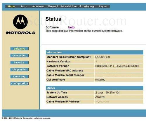 setup wifi on the motorola sbg6580 rh setuprouter com motorola sbg6580 manual download motorola sbg6580 manual pdf