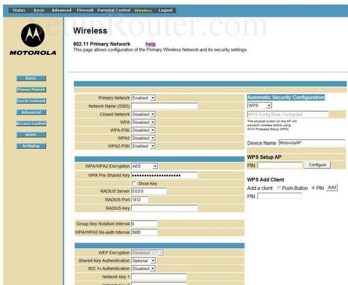 setup wifi on the motorola sbg6580 rh setuprouter com Motorola SURFboard SBG6580 User Guide motorola support sbg6580 user guide