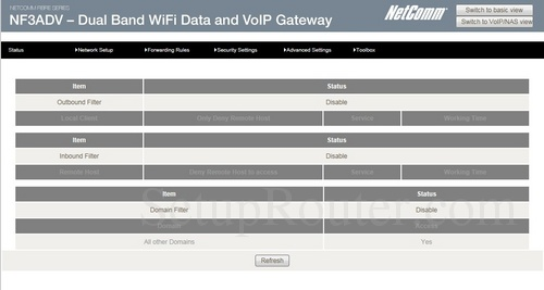 how to change ip address on netcomm n600 router