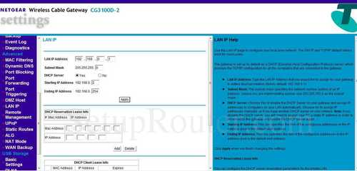 how to change password on netgear cg3100d router