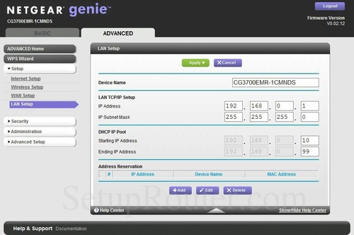 how to change router ip address netgear