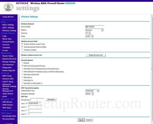 Netgear dg834g v4 firmware modificato in italiano v5. 01. 16.