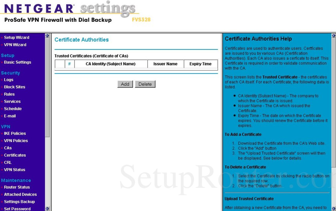 Netgear validating identity certificate