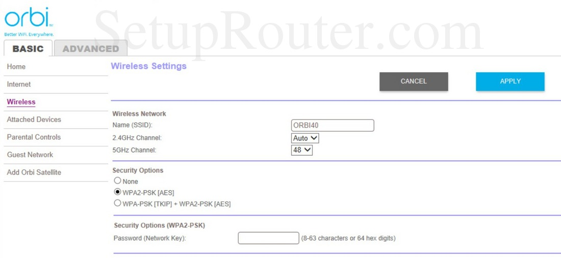 Orbi router and satellite use the same channels