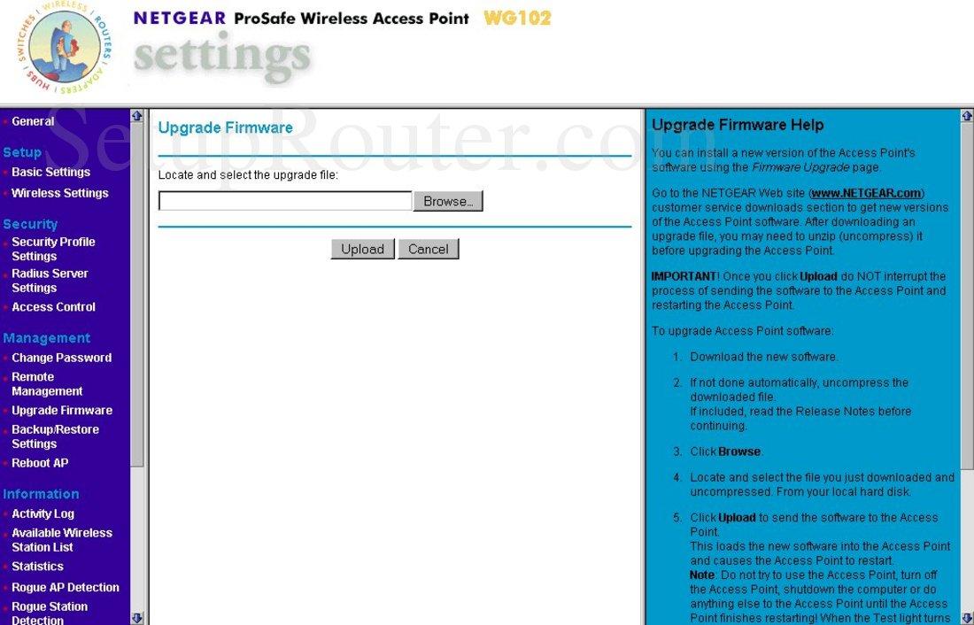 netgear wg102 firmware