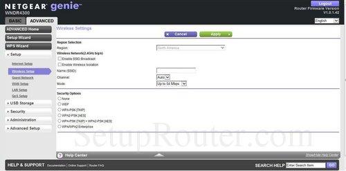 Setup WiFi on the Netgear WNDR4300