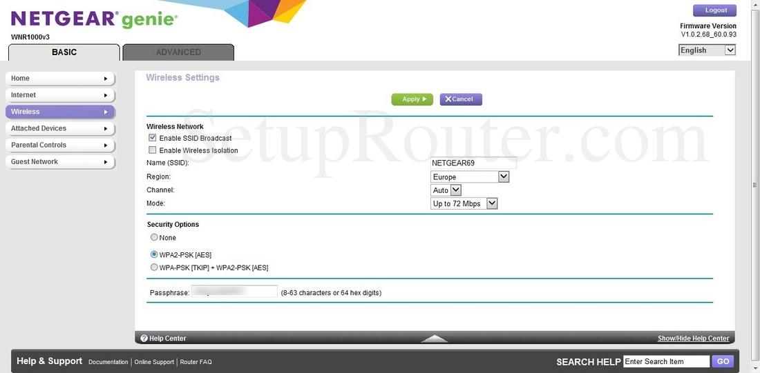 Netgear WNR1000v3 Genie Screenshot BasicWireless
