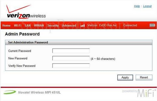how to change my vodafone mifi password