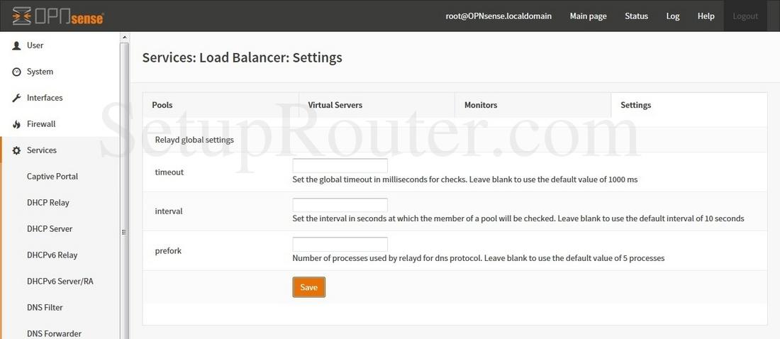 OPNsense 15-1-12-i386 Screenshot ServicesLoadBalancerSettings