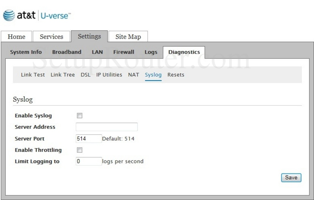 Pace Plc 5031NV-030 Screenshot Syslog