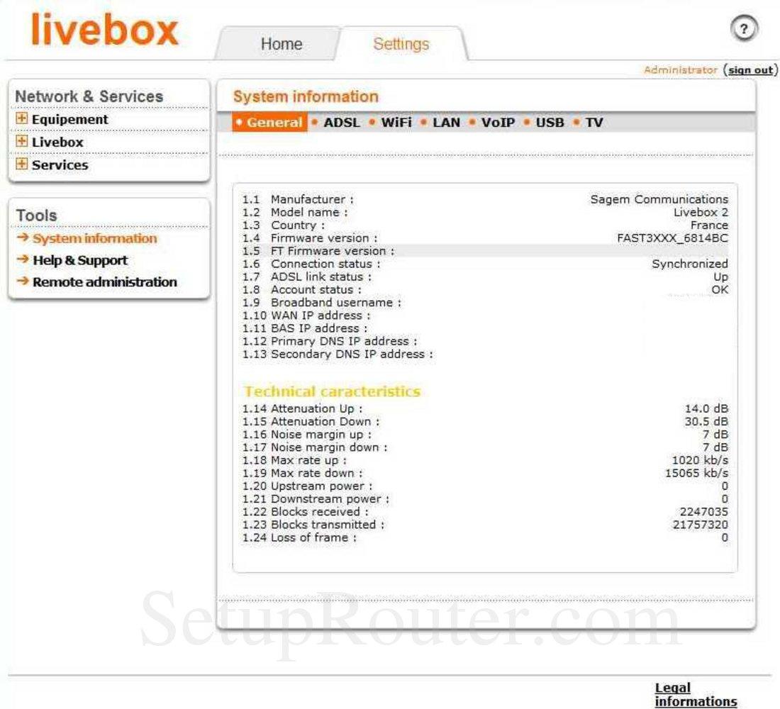 firmware livebox 2 sagem