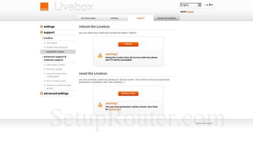 Livebox Firmware Update