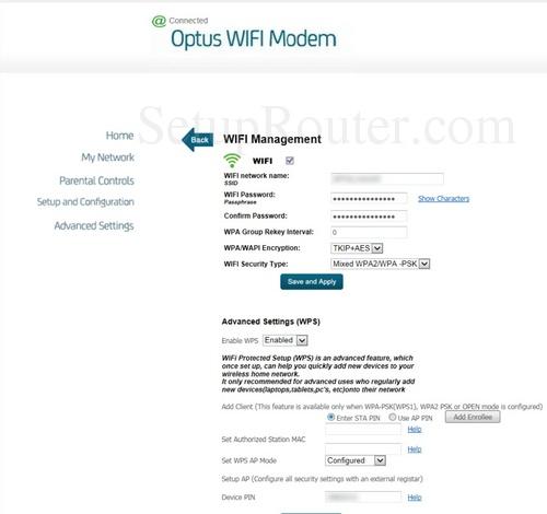 Sagemcom Fast 3864V2 Optus Screenshots