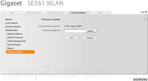 firmware gigaset se361 wlan