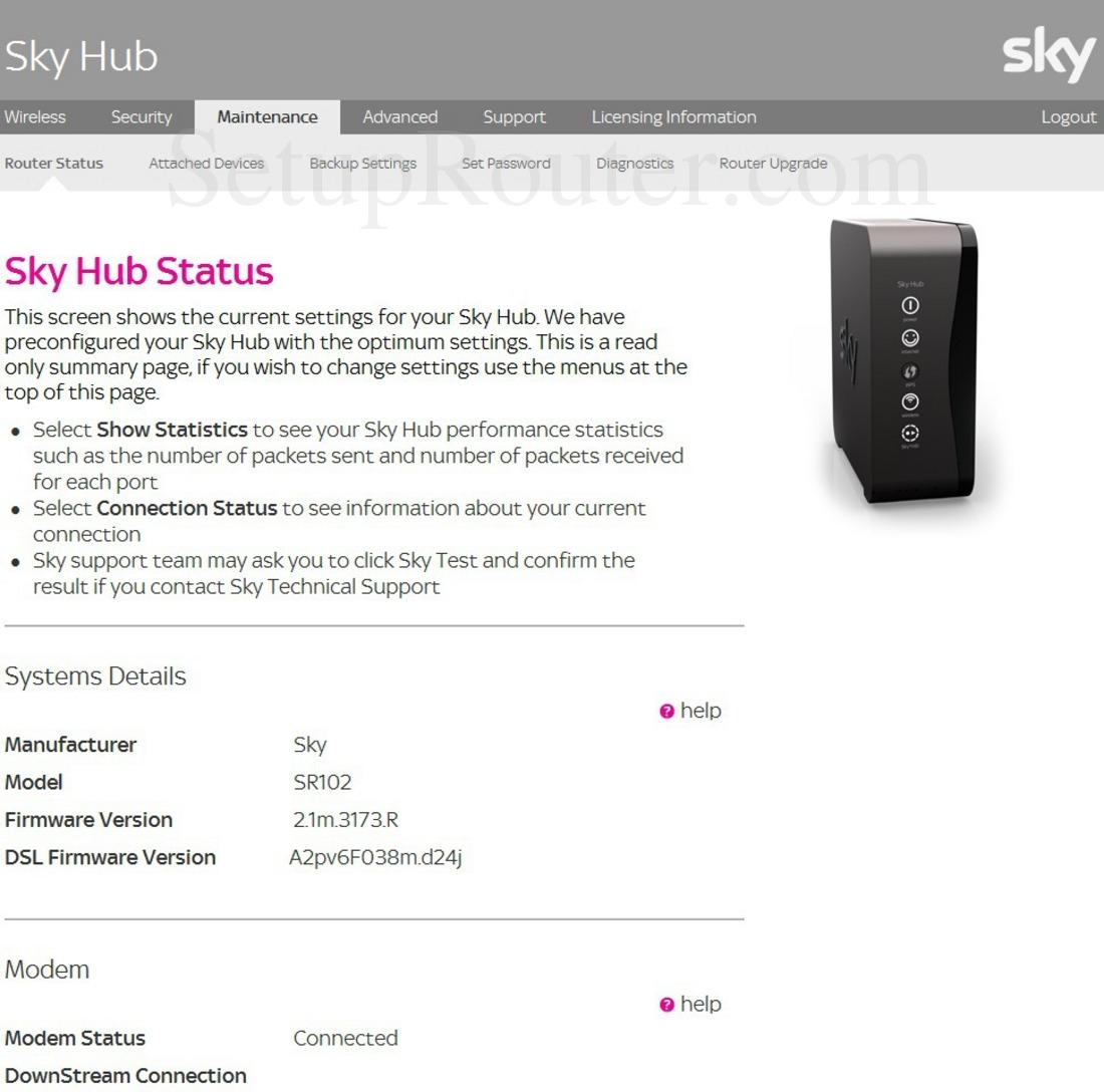 Sky Router Settings >> Sky Sr102 Screenshot Skyhubstatus