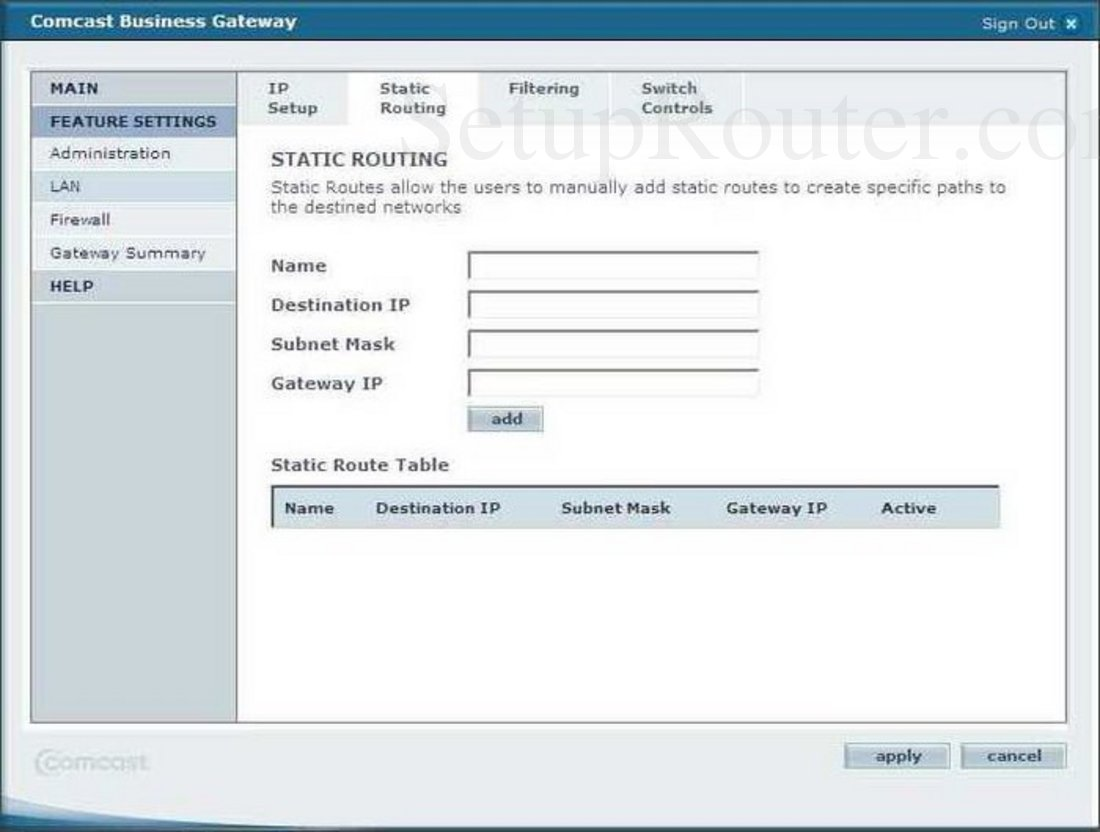 smc smc8014 ccr screenshot static routing rh setuprouter com