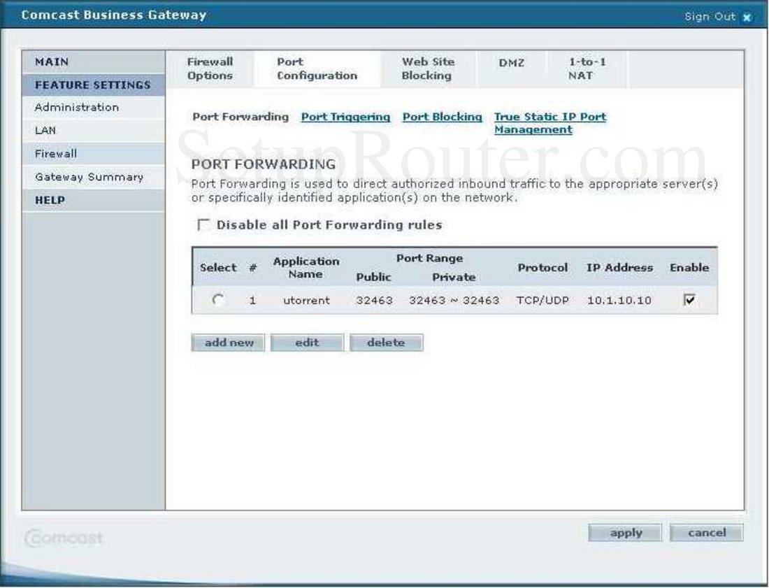 Smc Smcd3g Ccr Screenshot Port Forwarding