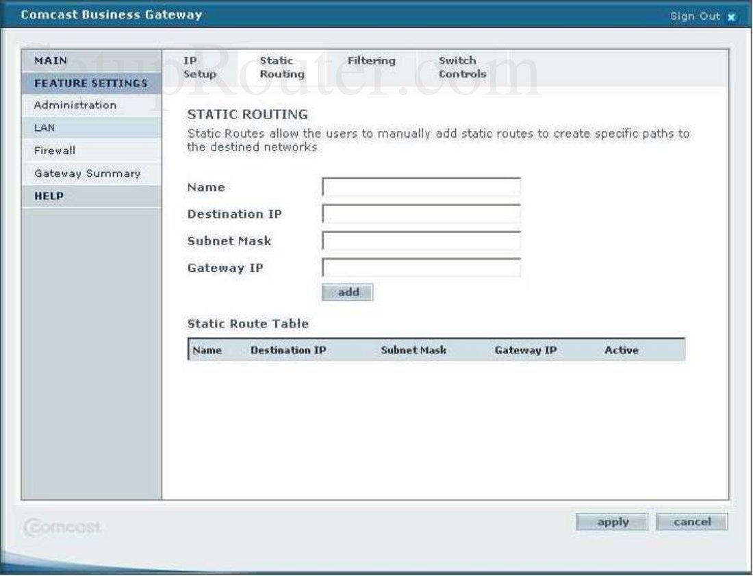 smc smcd3g ccr screenshot static routing rh setuprouter com