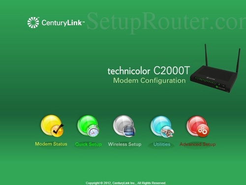 How to Login to the Technicolor C2000T CenturyLink
