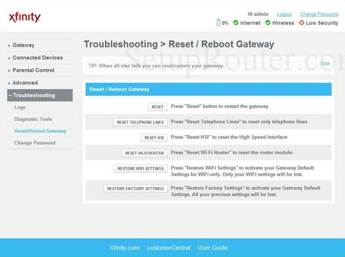 how to update router firmware xfinity technicolor