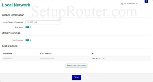 How to change the ip address of the Technicolor TG789vac