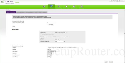 how to change wireless network name telus