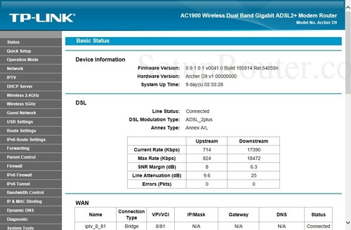 Setup WiFi on the TP-Link Archer D9