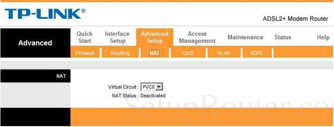 TP-Link TD-8616 Screenshot NAT