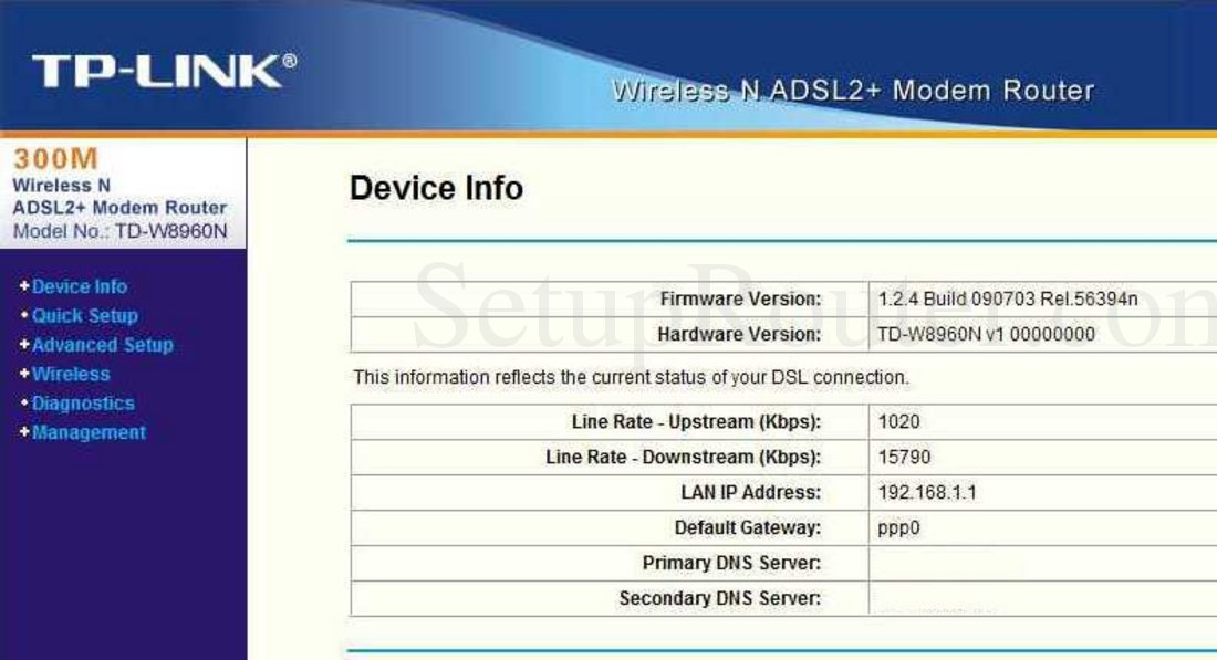 Openwrt project: tp-link td-w8960n.
