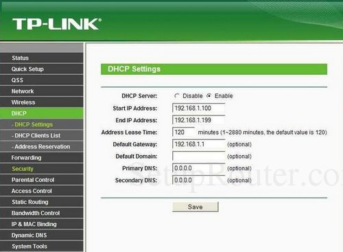 How to change the DNS settings on the TP-Link TL-WR740N