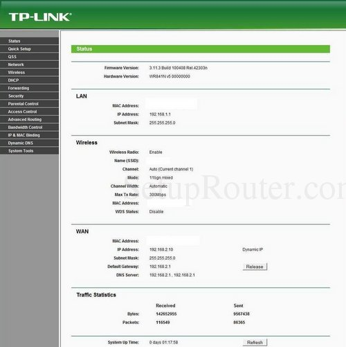 Tp Link Tl Wr841n Screenshots