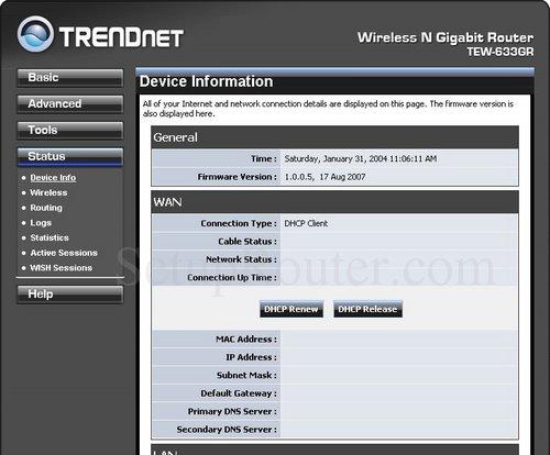 Trendnet tew-633gr screenshots.