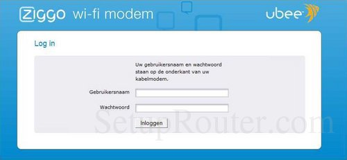 wachtwoord modem ziggo
