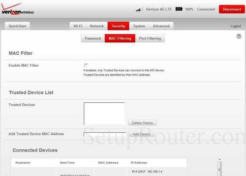 Verizon MiFi-4620L Screenshots