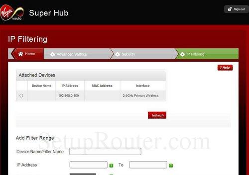 Virgin Media Ip Address >> Virgin-Media Super-Hub-2 Screenshots