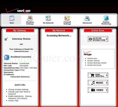 setup wifi on the westell a90 750015 07 rh setuprouter com Verizon FiOS Quantum Router G1100 westell 7500 router setup