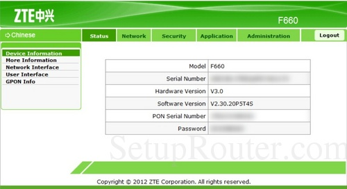 Zxhnf660 gpon ont user manual users manual zte corporation.