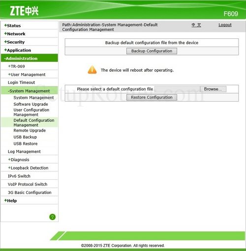 zte f609 ddns complaints process being