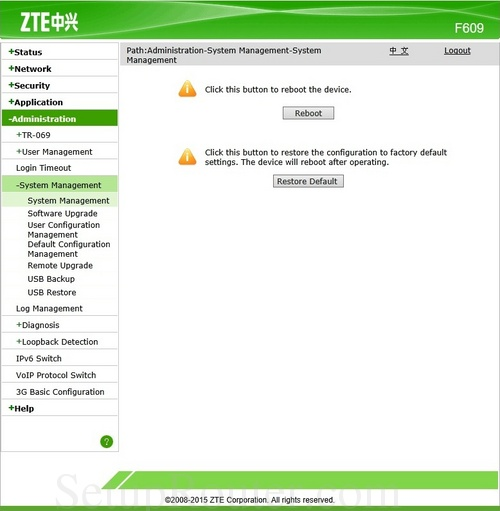 has become zte f609 login trap gas