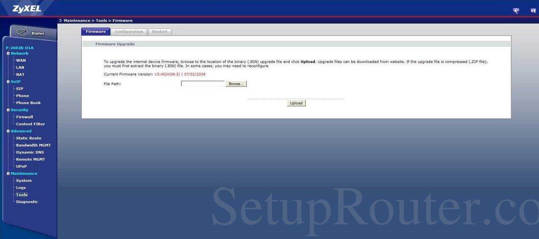 p 2602r d1a firmware