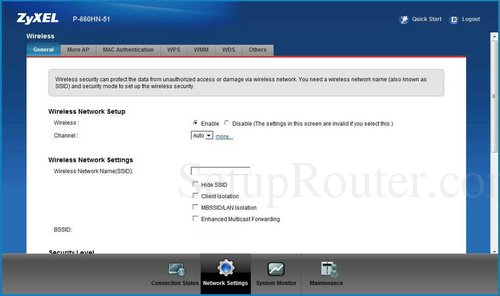 Setup WiFi on the ZyXEL P-660HN-51