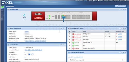 How to Login to the ZyXEL ZyWALL 110
